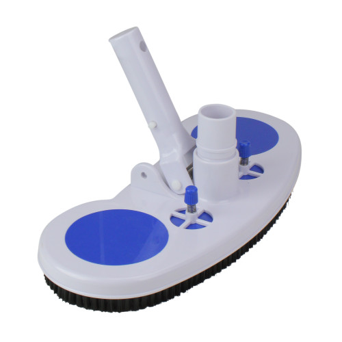 """13"""" Blue and White Air-Relief Valve Swimming Pool Vacuum Head"""