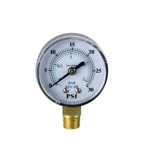 """2.75"""" Side Mount Filter Pressure Gauge - 0-30 PSI"""