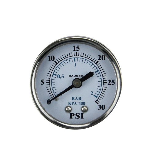 "2"" Back Mount Stainless Steel Pressure Gauge 0-30 PSI"
