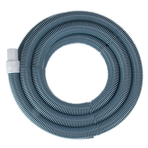 """Blue and White Extruded EVA In Ground Swimming Pool Vacuum Hose 25' x 1.5"""""""
