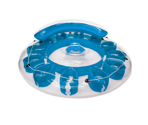 """72"""" Inflatable Blue Water Pop Circular Swimming Pool Lounger"""