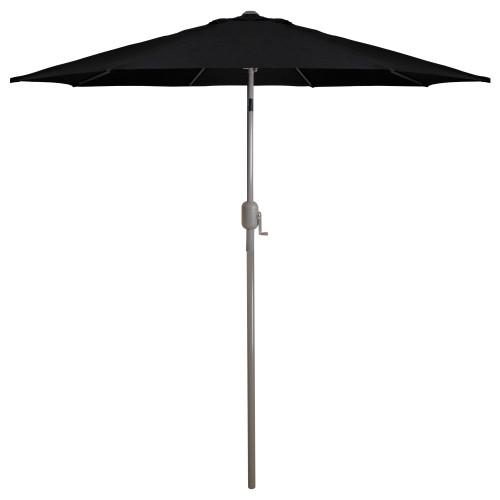 9ft Outdoor Patio Market Umbrella with Hand Crank and Tilt, Black