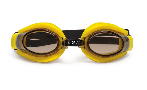 """6.5"""" Yellow C2 II Water Sport Goggles Swimming Pool Accessory for Juniors, Teens and Adults"""