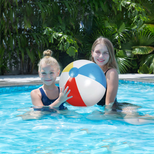 """16"""" Multi-Color 6 Panel Inflatable Beach Ball"""