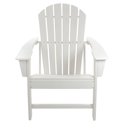 All Weather Recycled Plastic Outdoor Adirondack Chair, White