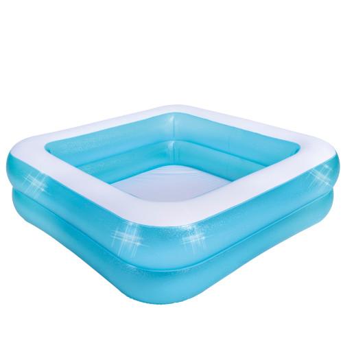 4.75ft. Inflatable Blue and White 2-Ring Swimming Pool