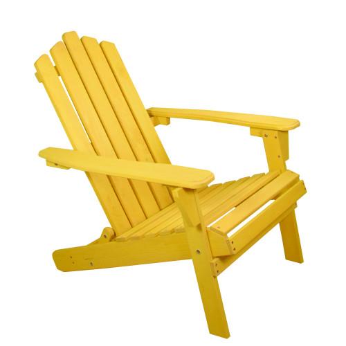 "36"" Yellow Classic Folding Wooden Adirondack Chair"
