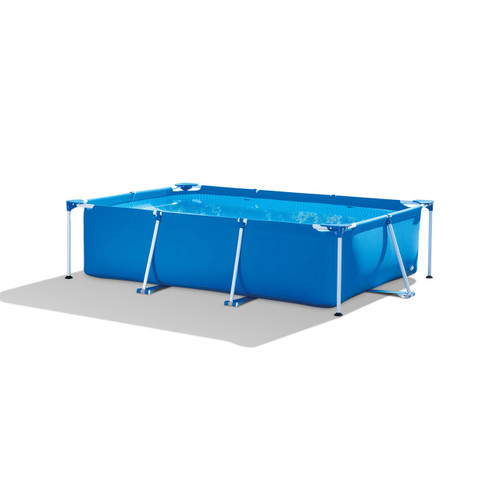 9.8ft x 29.5in Rectangular Frame Above Ground Swimming Pool with Filter Pump