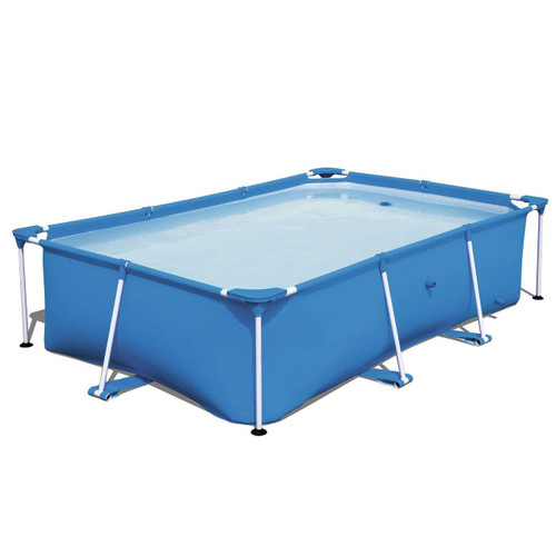 8.5ft x 2ft Rectangular Framed Above Ground Swimming Pool with Filter Pump
