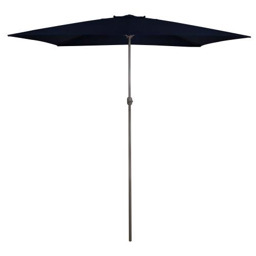 10ft x 6.5ft Outdoor Patio Market Umbrella with Hand Crank, Navy Blue