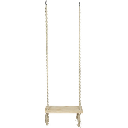 """21.75"""" Natural Rope Wooden Swing Chair"""