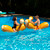 """54"""" Brown and White Inflatable Swimming Pool Log Flume Joust Set"""