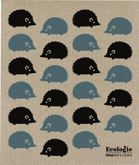 Swedish Dishcloth -  Happy Hedgehog