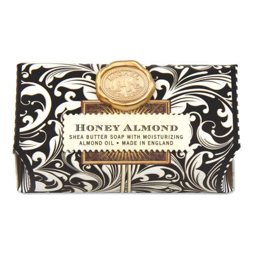 Our classic Honey Almond scent features sweet almonds muddled with cherry, vanilla, and honey.