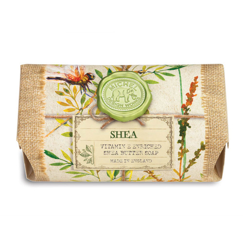 Shea is scented with creamy shea butter and drops of vanilla, orchid blossom, and almond milk.