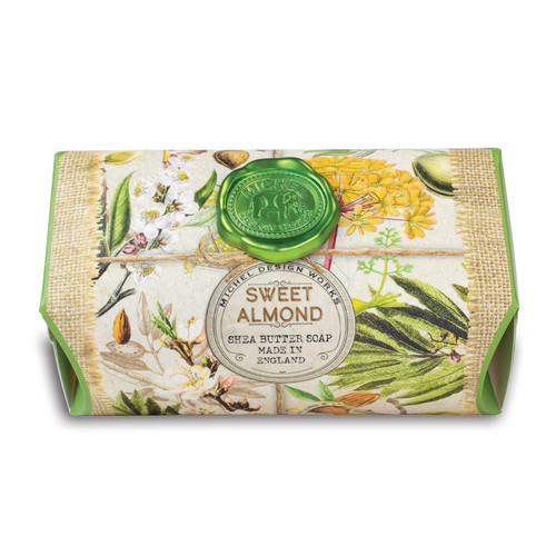 Sweet Almond has the warm scent of toasted sweet almonds with just a hint of vanilla coconut cookie.