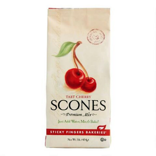 Tart Cherry Scones : Tart cherries from Michigan are the boss of this big-flavored scone. If you like cherries, you'll love this scone.