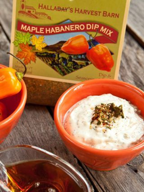 Spice up your grilling with our new Maple Habanero dip mix. This makes a delicious summer dip to serve with chips or add it to your barbecue sauce to create a spicy glaze for chicken, steak and ribs. Our spiciest dip for all of you who have asked us for a dip with more heat!