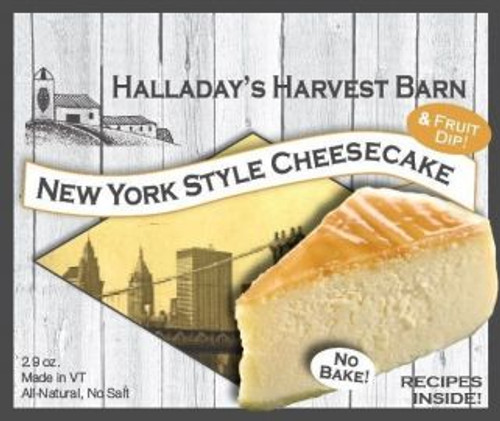 Halladay's has created a delicious New York Style Cheesecake, perfect for that quick summer dessert! It is more dense than our traditional cheesecake, a little less sweet and delicious topped with fresh summer fruit, such as blueberries, strawberries or peaches.