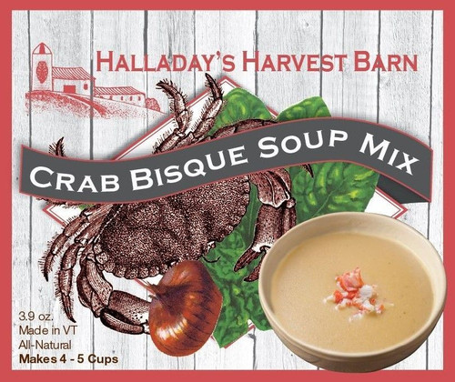 The perfect bisque in minutes! Simply add water, half and half and a can of crab meat for a delicious and quick soup.
