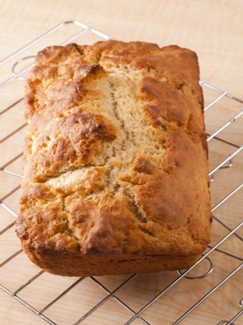 Who doesn't love the flavor of beer bread?!? You can experiment with varieties of beer to make a little different loaf each time you bake.  Just add 1 beer, bake on 375 for 40-45 minutes and voila, you just became a master bread baker!