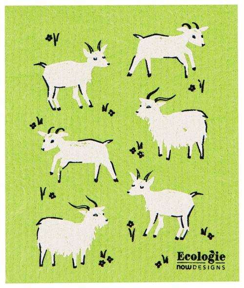 Swedish Dishcloth - Goats