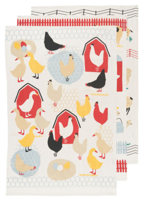 Extra soft and unique textured floursacks evoke nostalgic memories of grandma's favorite kitchen linens. Made from superior quality cotton, this set features a variety of farm animals illustrations. 100% cotton W20 x L30 inch Made in India