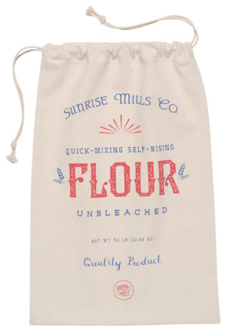 Whether you prefer multi-grain over rye, sourdough over ciabatta, bring home your favorite fresh loaf in this cotton drawstring bag 100% cotton W11 x L17 inch Made in India