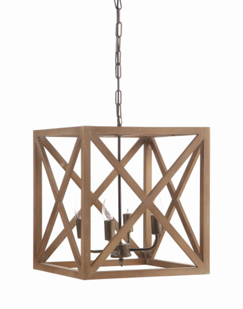 Square Wooden Chandelier