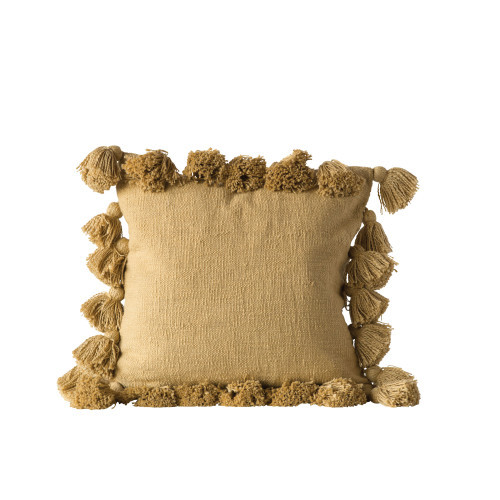 Square Tassel Cotton Pillow