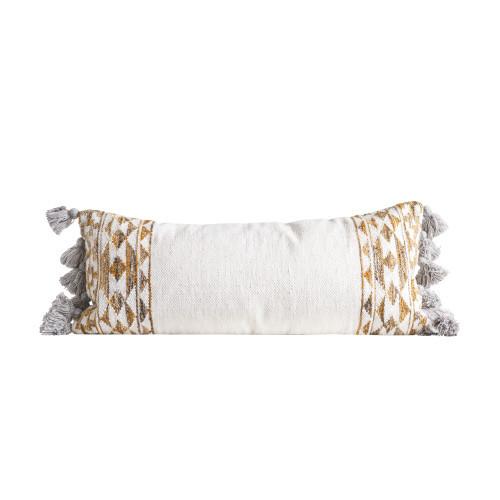Wool Kilim Pillow w/ Tassels
