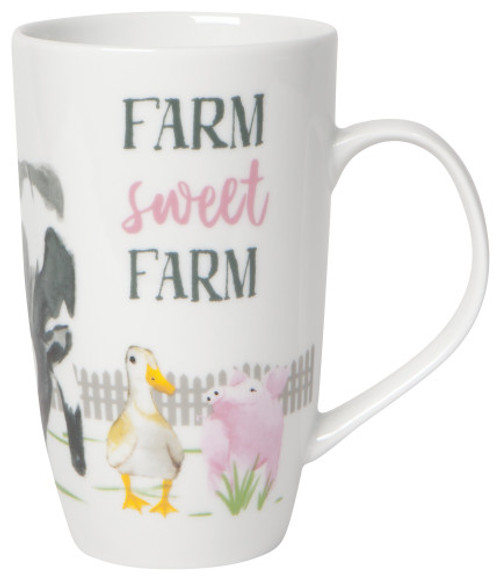 This gorgeous mug in elegant porcelain is a surefire conversation starter, because a good chat doesn't start over a salad. Choose from a variety of patterns to match your table setting, from flora to fauna, and cafes to books.  Porcelain 20 oz Made in China