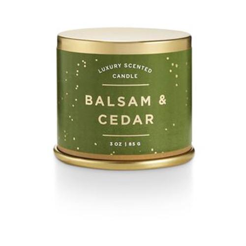 Balsam & CedarSmall Tin Candle
