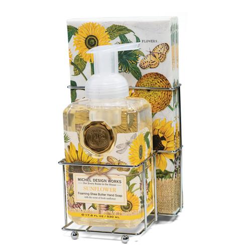 Sunflower Foaming Hand Soap & Napkin Set