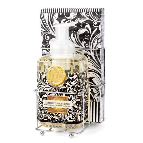 Honey Almond Foaming Hand Soap & Napkin Set