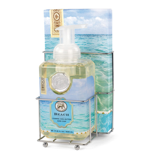 Beach Foaming Hand Soap & Napkin Set