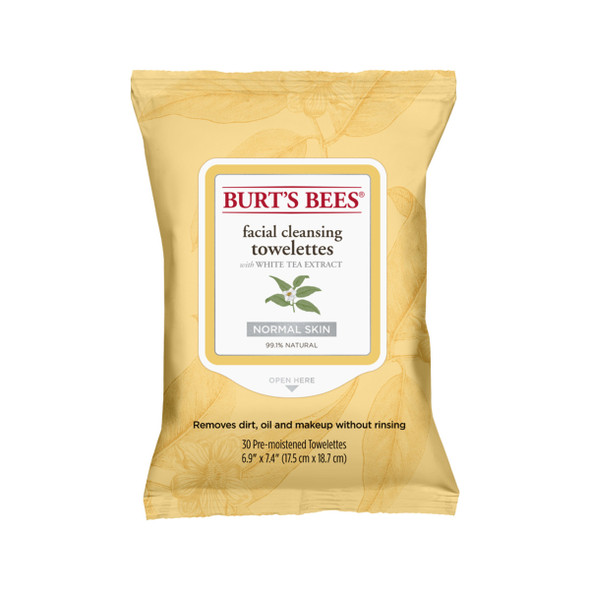 Burts Bees Facial Cleansing Towelettes x 30 Pack