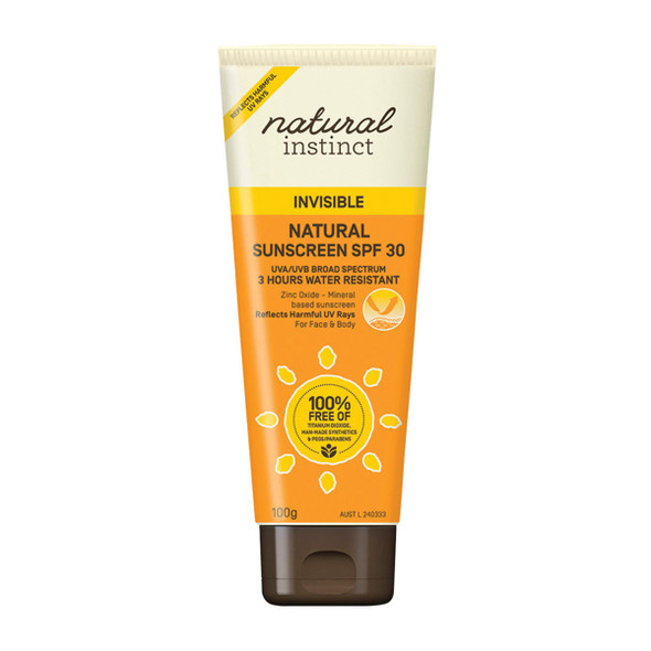 Natural Instinct Sunscreen Invisible 100g