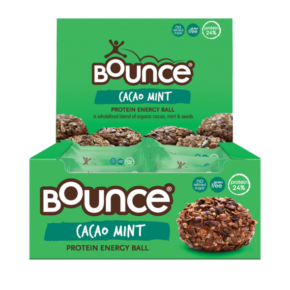 Bounce Energy Balls Cacao Mint Protn Bomb 42g x 12 Display