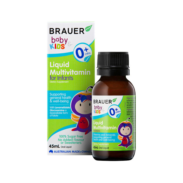 Brauer Baby and Kids Multivitamin for Infants Liquid 45ml