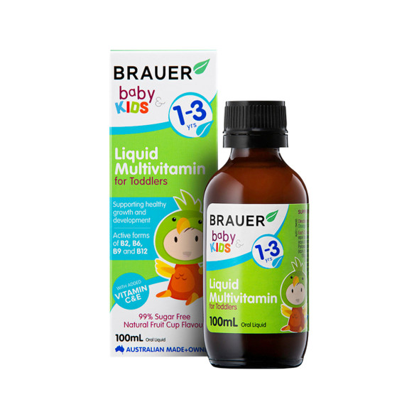 Brauer Baby and Kids Multivitamin for Toddlers Liquid 100ml
