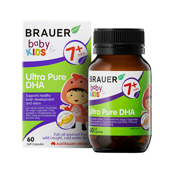 Brauer Baby and Kids Ultra Pure DHA 60 Caps