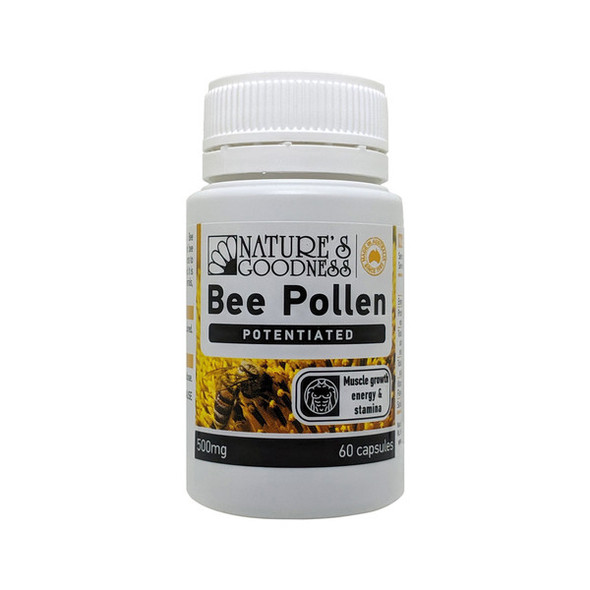 Nature's Goodness Activ Bee Pollen 500mg 60 Caps