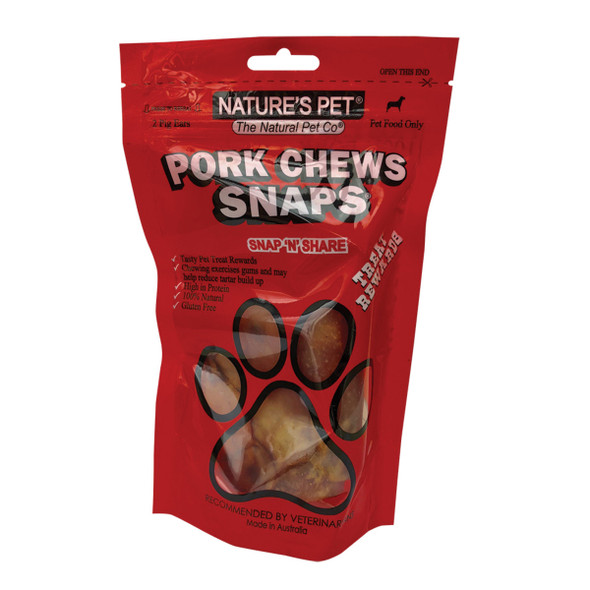 Nature's Pet Pigs Ears Snaps 2 Pack