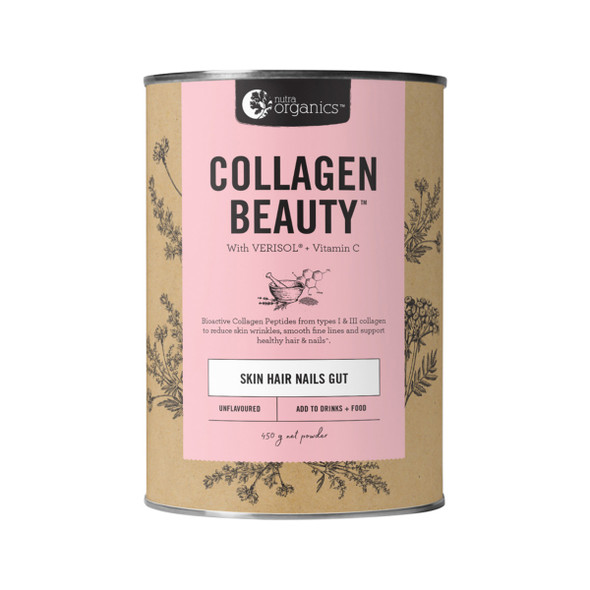 Nutra Organics Collagen Beauty Skin Hair Nails 450g