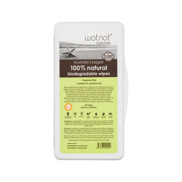 Wotnot Biodegradable (Baby) Wipes x20Pack Travel Case (hard)