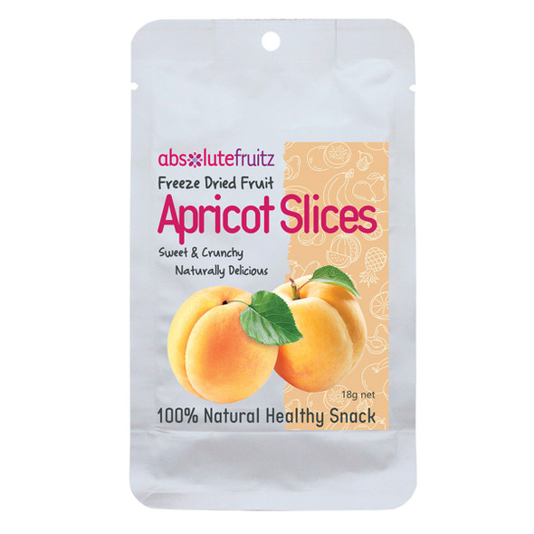 AbsoluteFruitz Freeze Dried Apricot Slices 18g