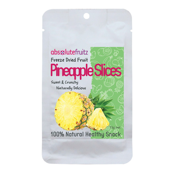 AbsoluteFruitz Freeze Dried Pineapple Slices 15g