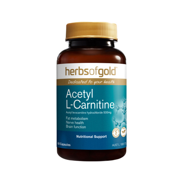 Herbs Of Gold Acetyl L-Carnitine 60 Caps