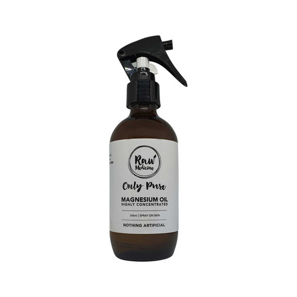 Raw Medicine Magnesium Oil (Highly Concentrated) Only Pure 200ml Spray